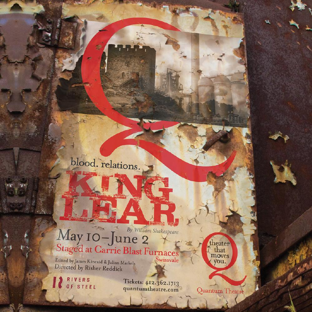 BOOM Creative Quantumm Theatre King Lear Poster